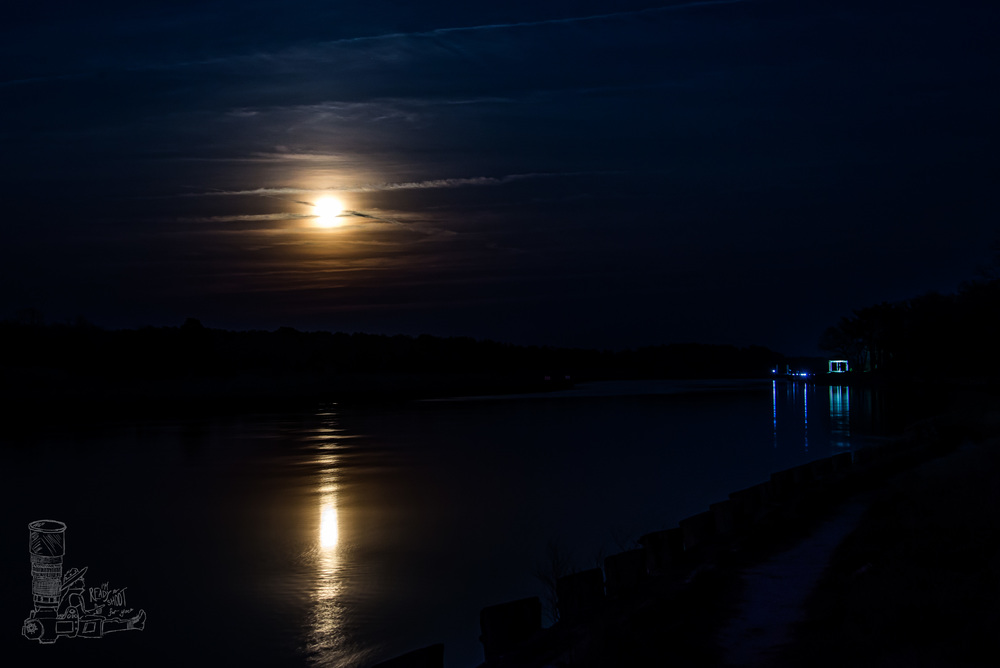 Full Moon Over the Canal