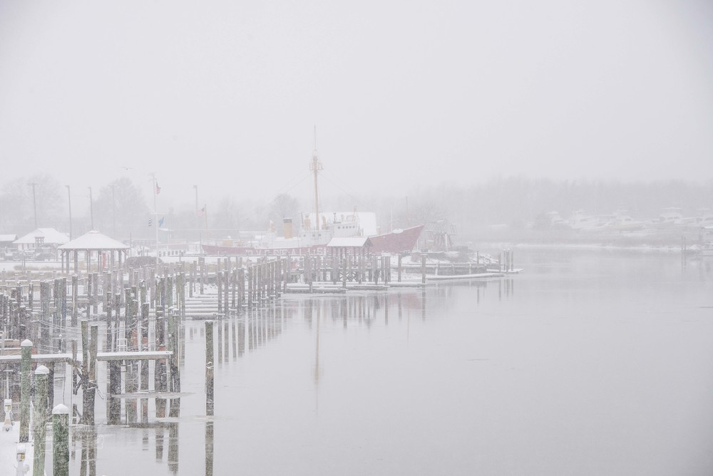 Lightship in the Snow