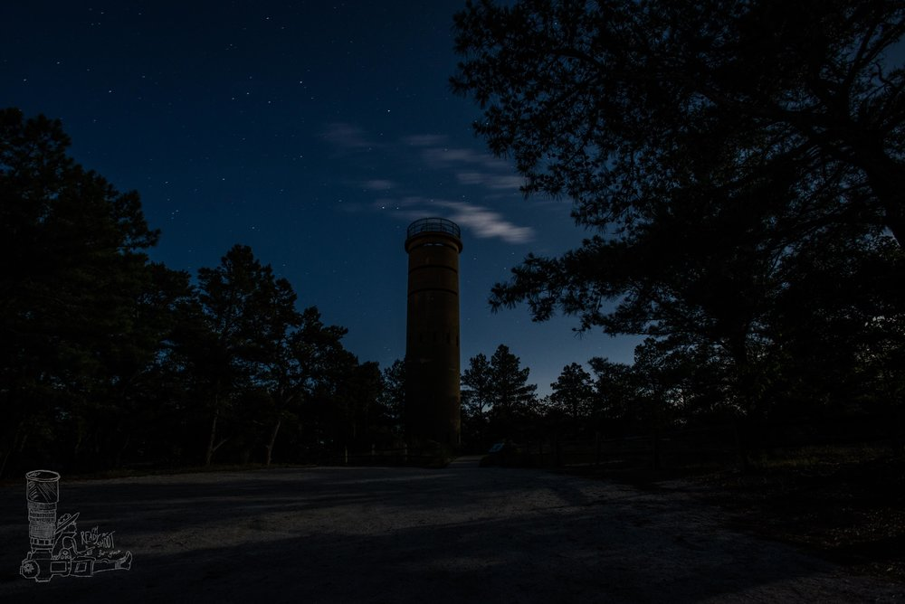 Nighttime Under the Tower