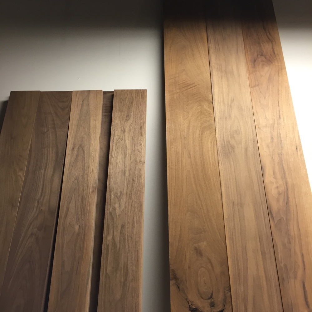 """Surfaced and rough cut to length. 9' and 7' by about 20""""-24"""" wide."""