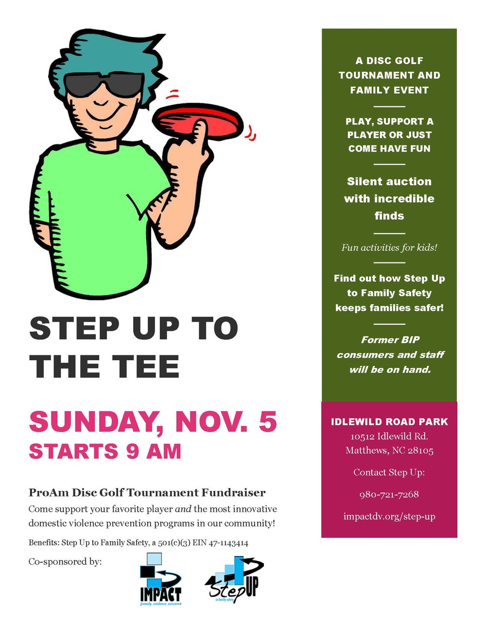 Step Up to the Tee savethedate fundraiser Nov 5 2017 flyer with logos.jpg