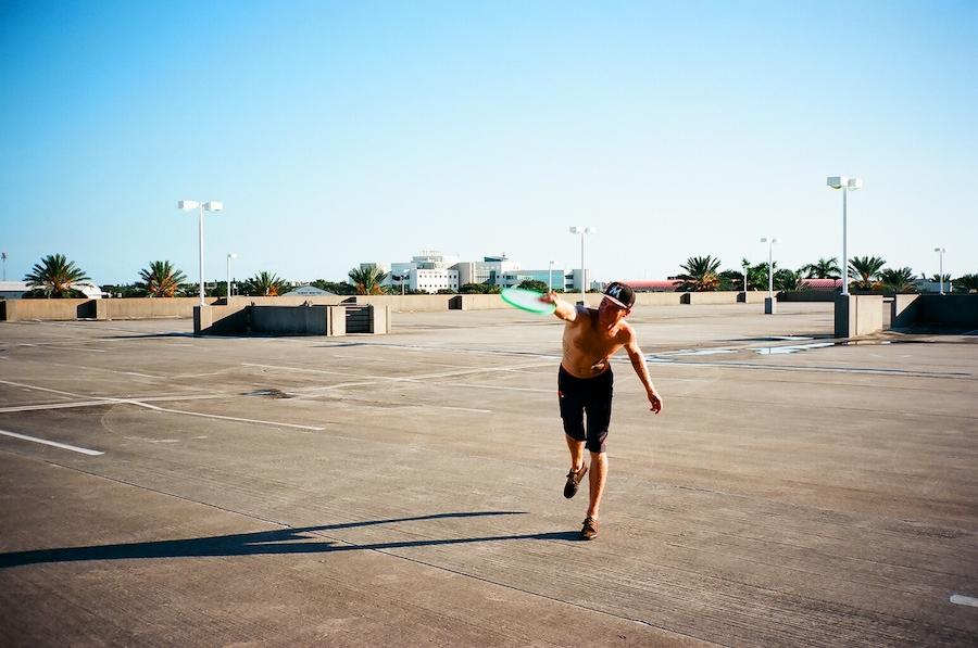 rooftop frisbee