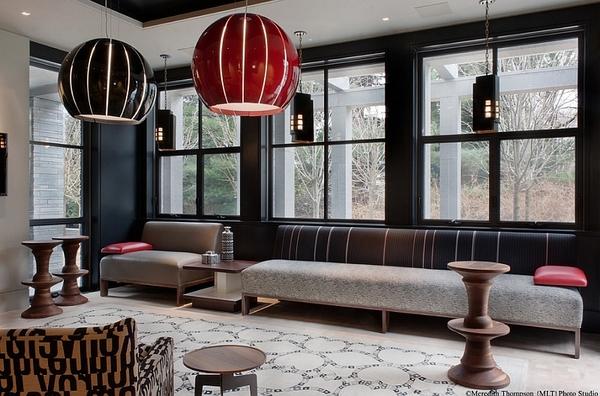 Moroccan Style Pendant Chandeliers Living Room Interior Design