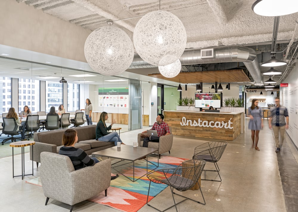 So Instacart Hired Architecture And Interior Design Firm Blitz To Design  Their New Office HQ In San Francisco.