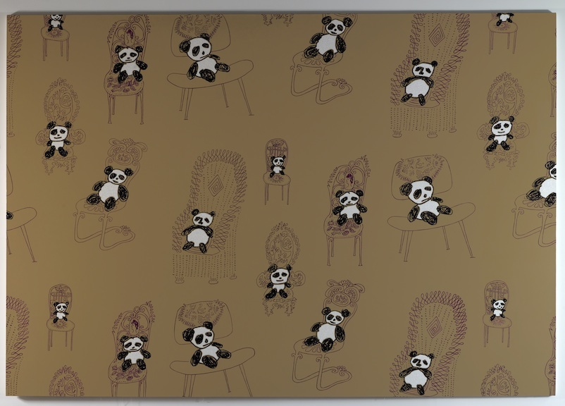 Panda Pattern: Rob Pruitt Pandas Sitting on Saul Steinberg Chairs