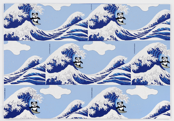 Panda Pattern: Riding The Great Wave