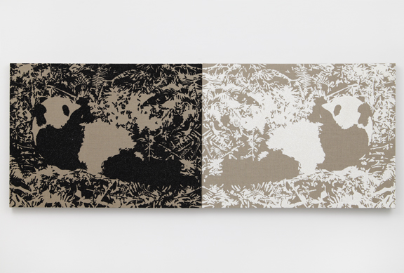 2010    Glitter and enamel on canvas 2 parts: 30 x 40 inches (76.2 x 101.6 cm) each