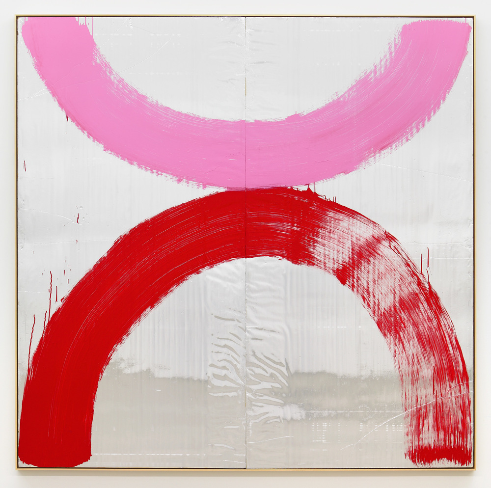 2006  Acrylic, oil and spray paint on foil panel  96 x 96 inches (243.8 x 243.8 cm)