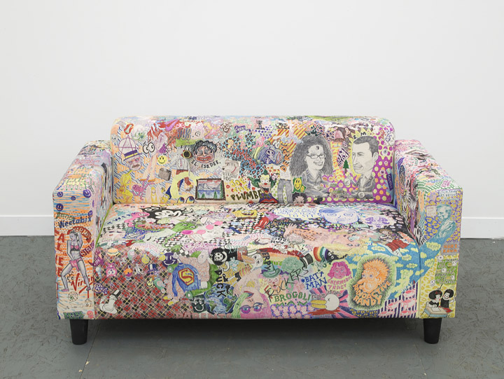 2013    Marker on couch 57 x 30 x 28 1/2 inches (144.8 x 76.2 x 72.4 cm)