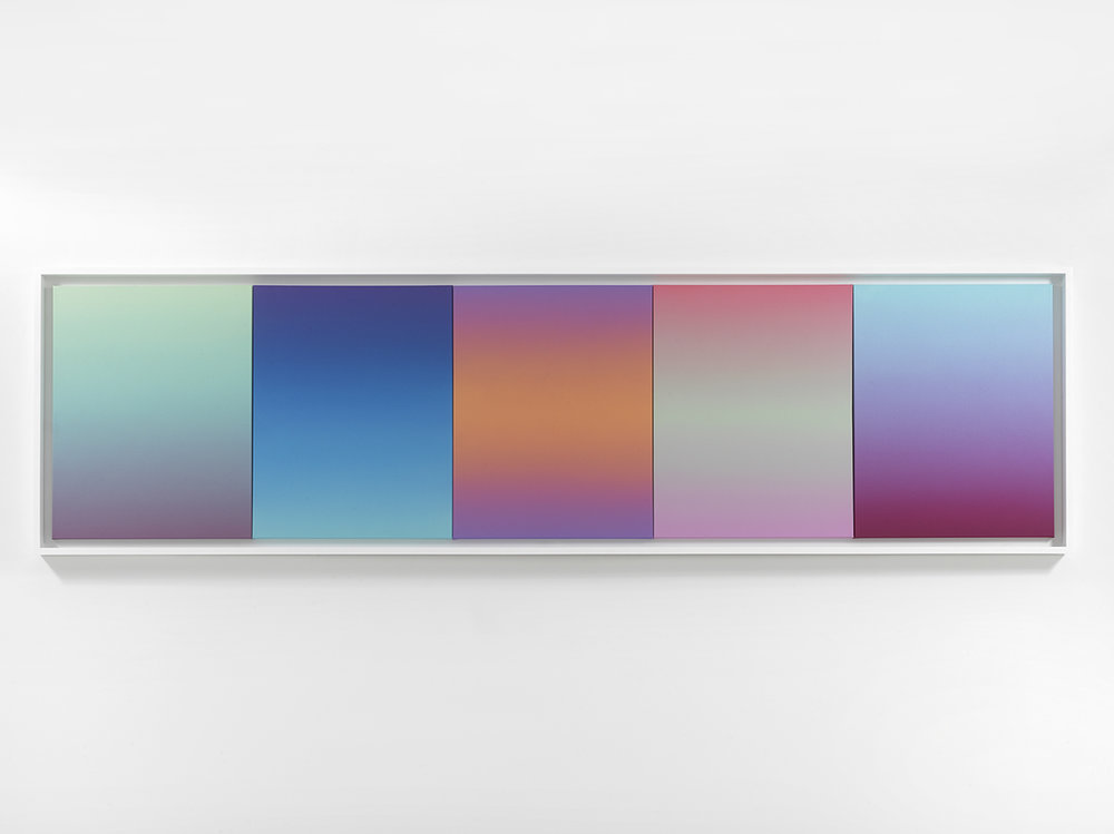 Gradient Studies, 5 Panels