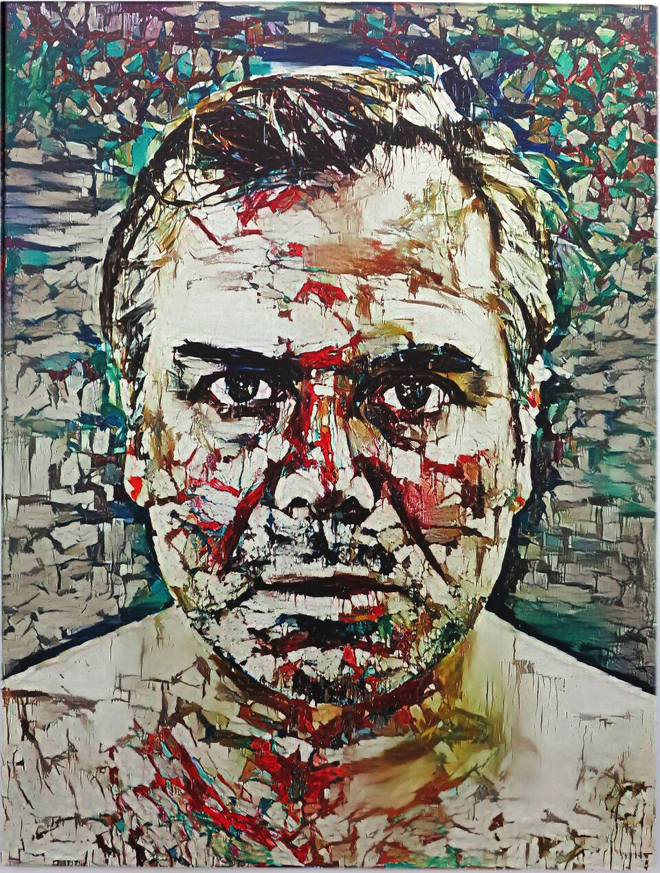 Artificial Intelligence Style Transfer Self-Portrait (Joan Mitchell & My Face)