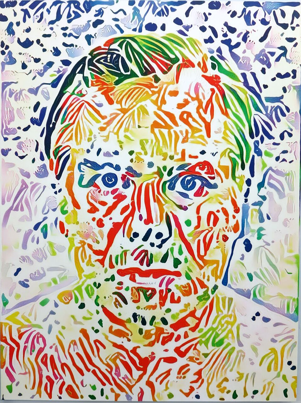 Artificial Intelligence Style Transfer Self-Portrait (Henri Matisse & My Face)