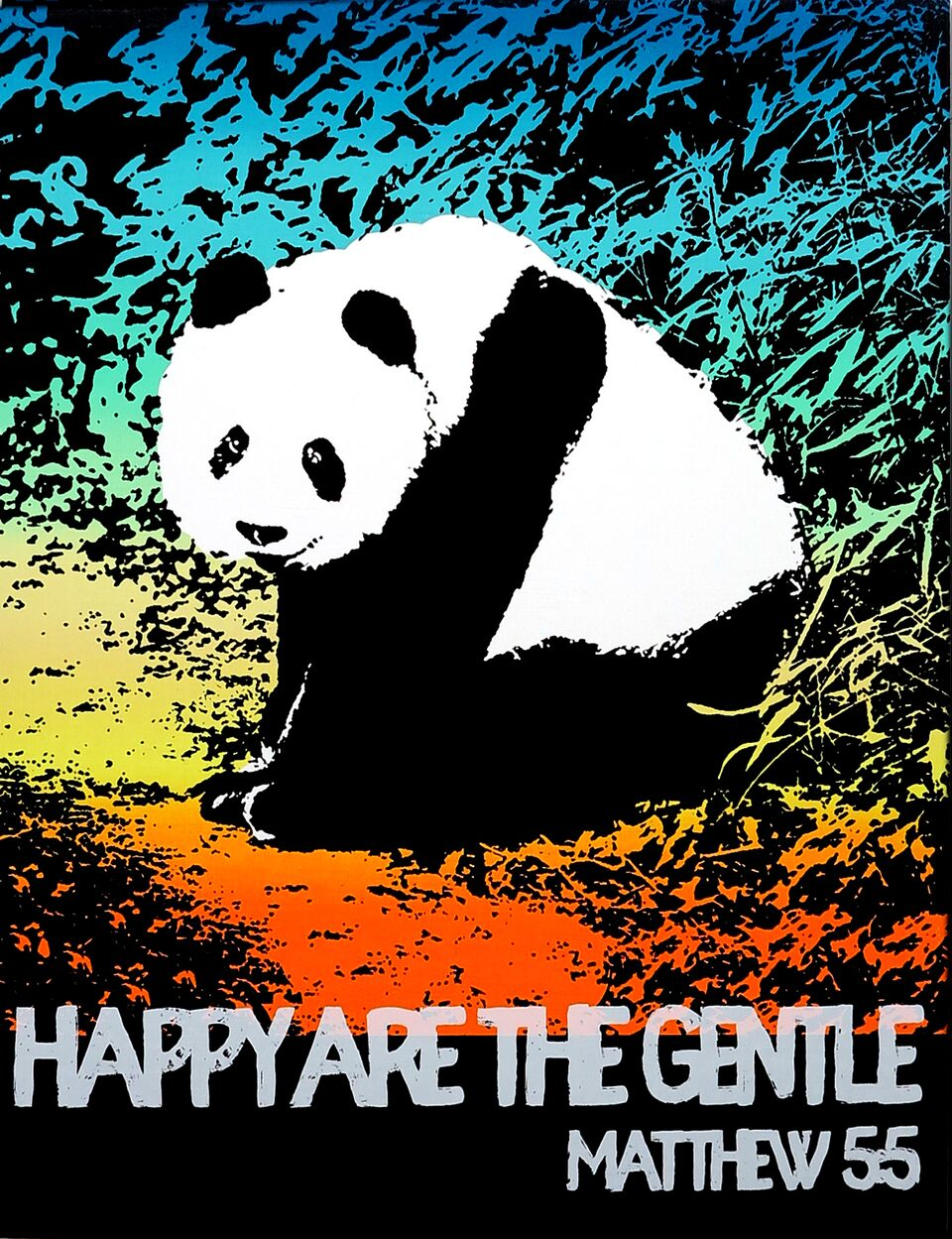 Motivational Panda (Matthew 5:5)