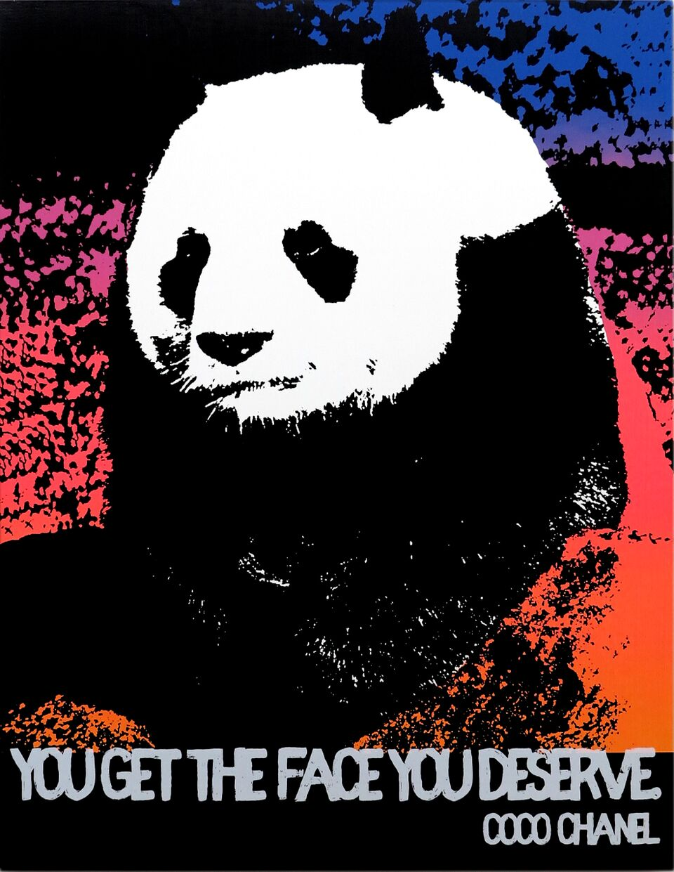 Motivational Panda (Coco Chanel)