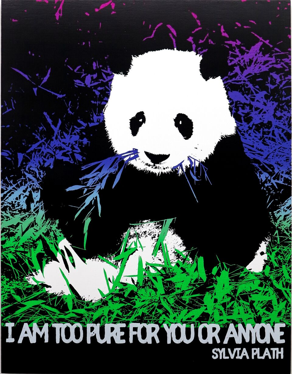 Motivational Panda (Sylvia Plath)