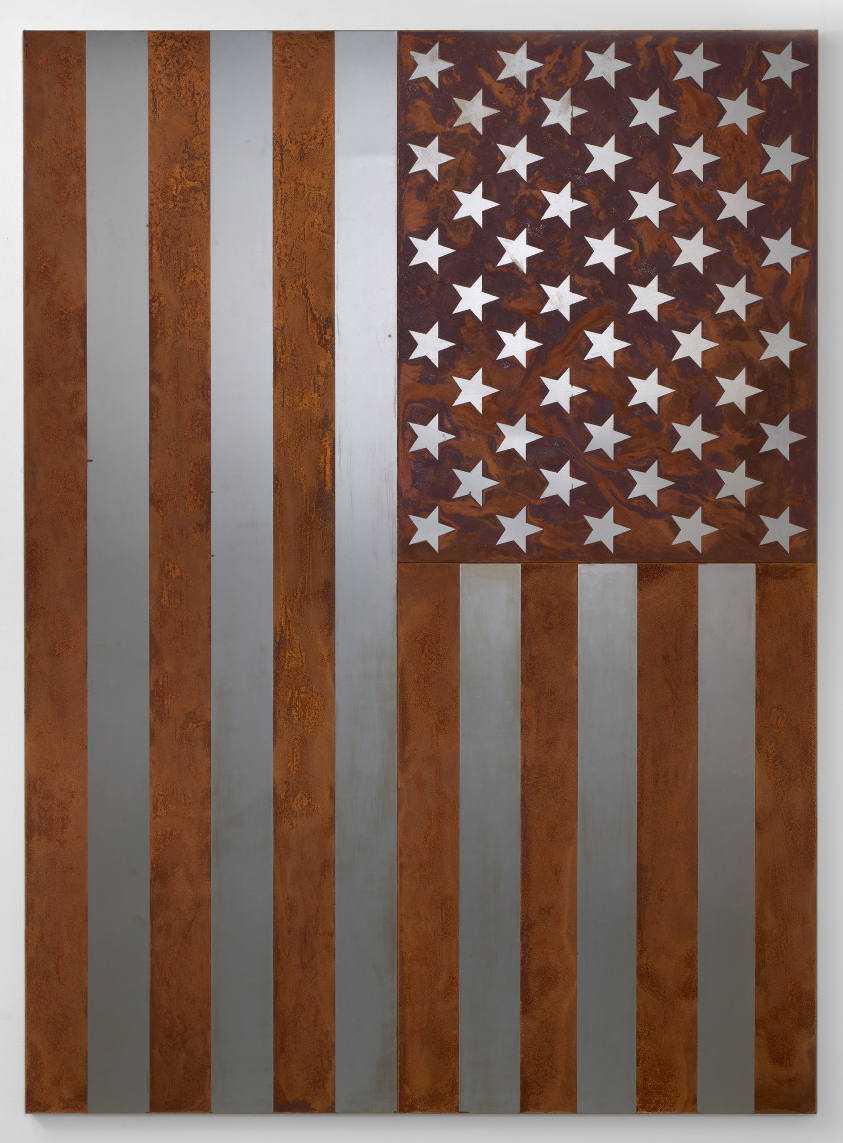 American Quilt 2018: Rusted American Steel Flag