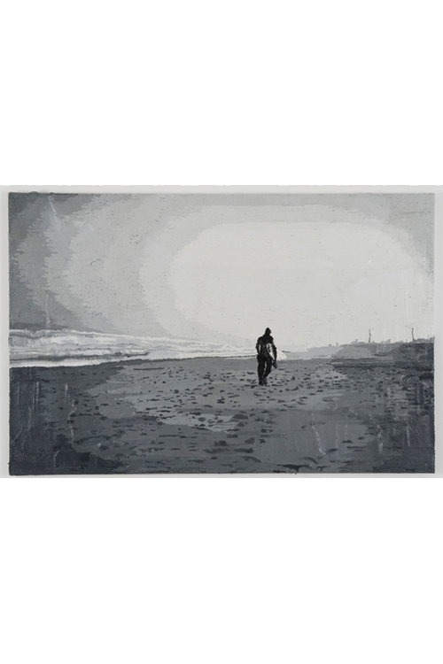 Pjätteryd Oil Painting: Surfer Black/White