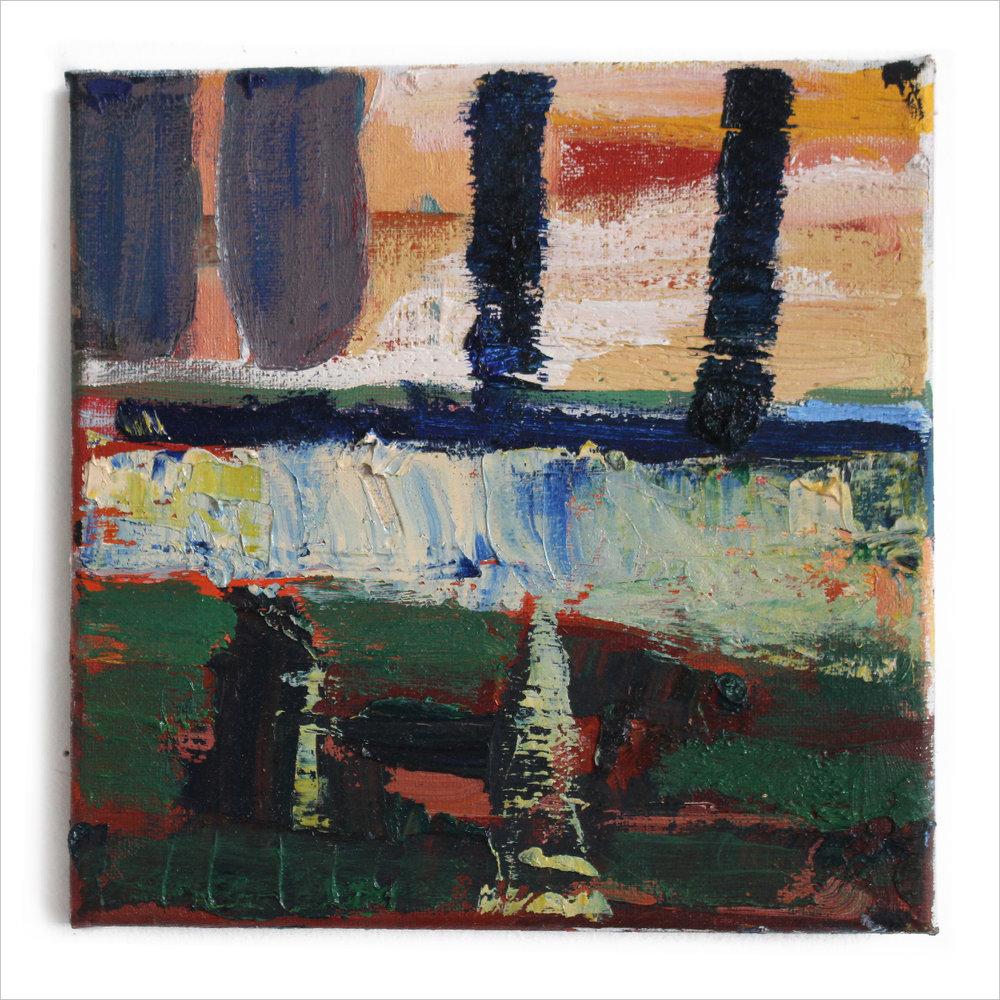 """Near the Sea , 8"""" X 8"""", oil on canvas, 2017"""