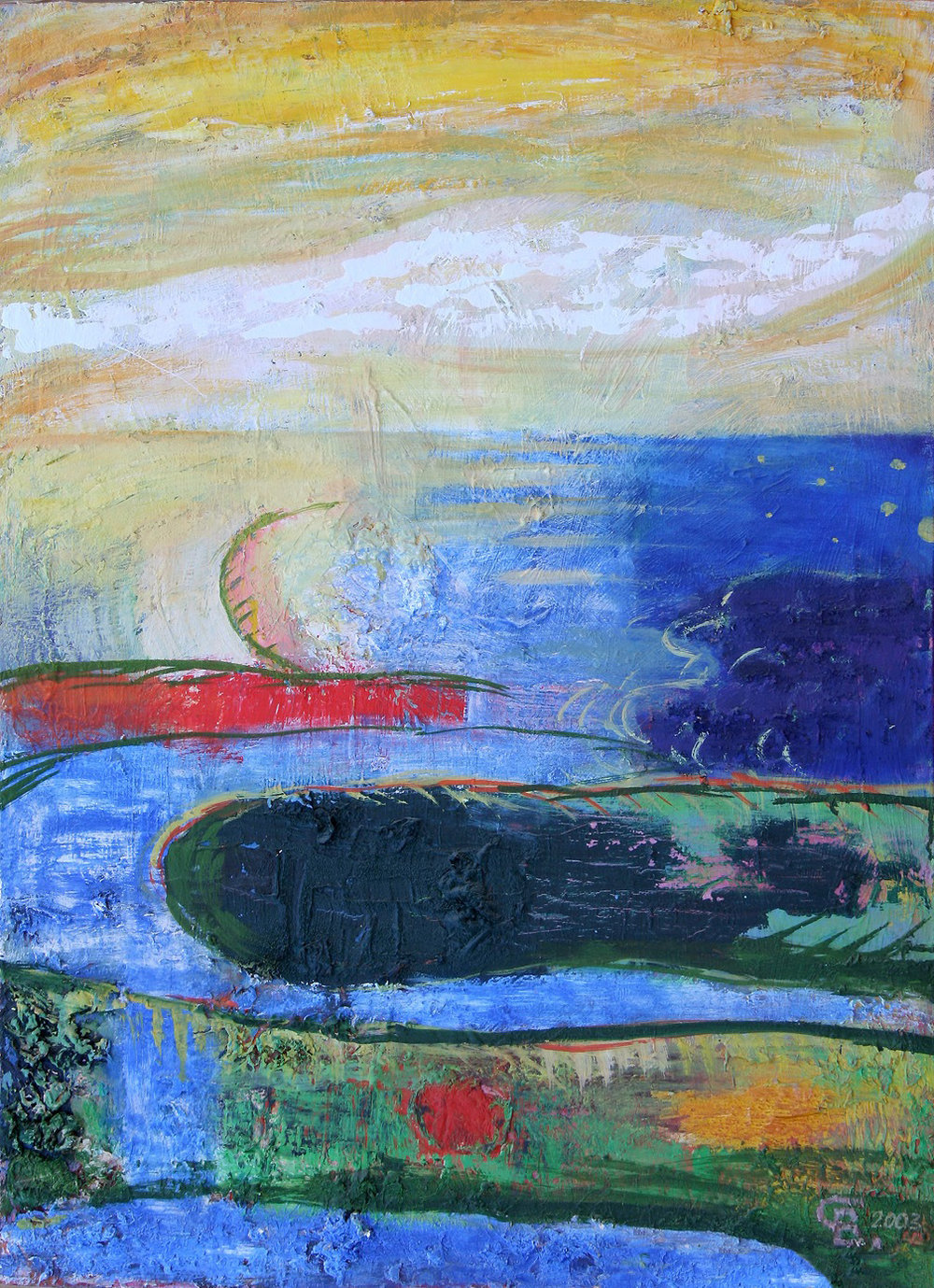 A Trail In The Sky, 2004. Oil on canvas 80 cm x 50 cm