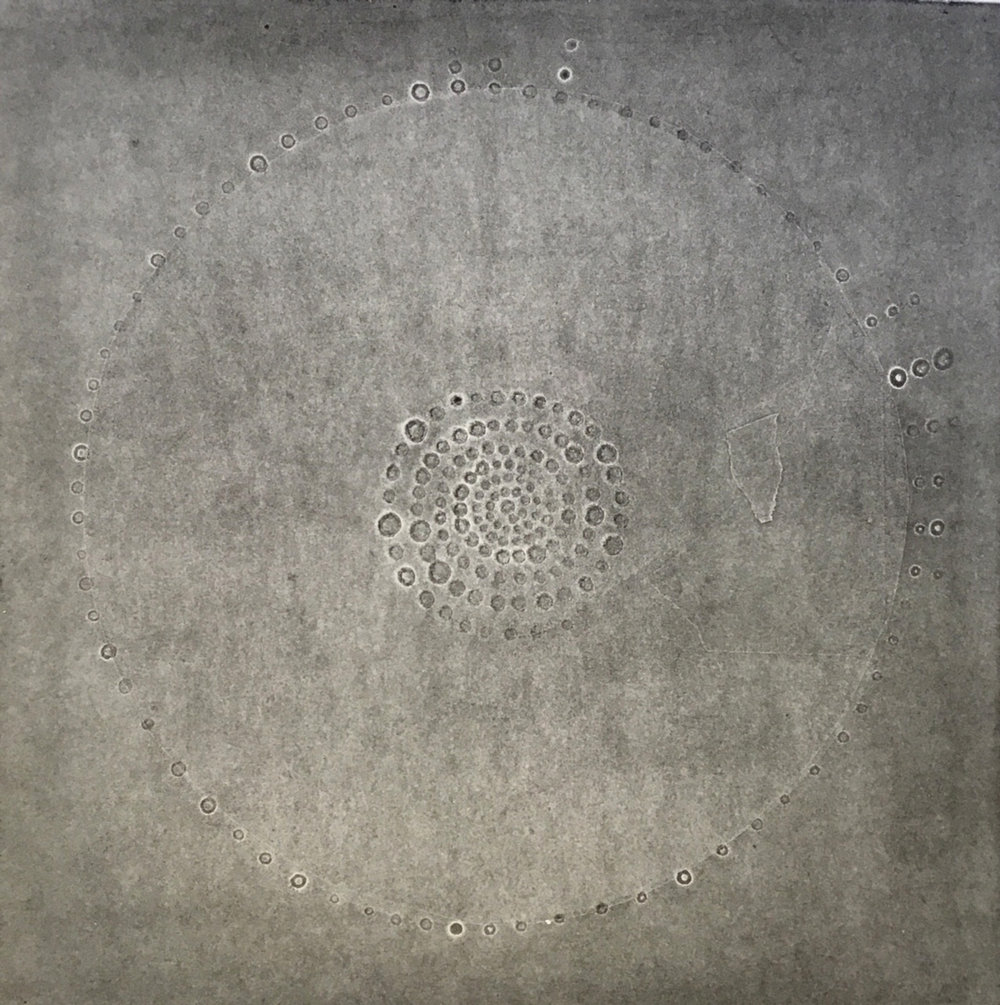 "Laima Sprangauskaitė, from  The   Moon  series. The   Moon 1 , 2013. 22"" x 30"" paper size, 15"" x 15"" image. Monotype"