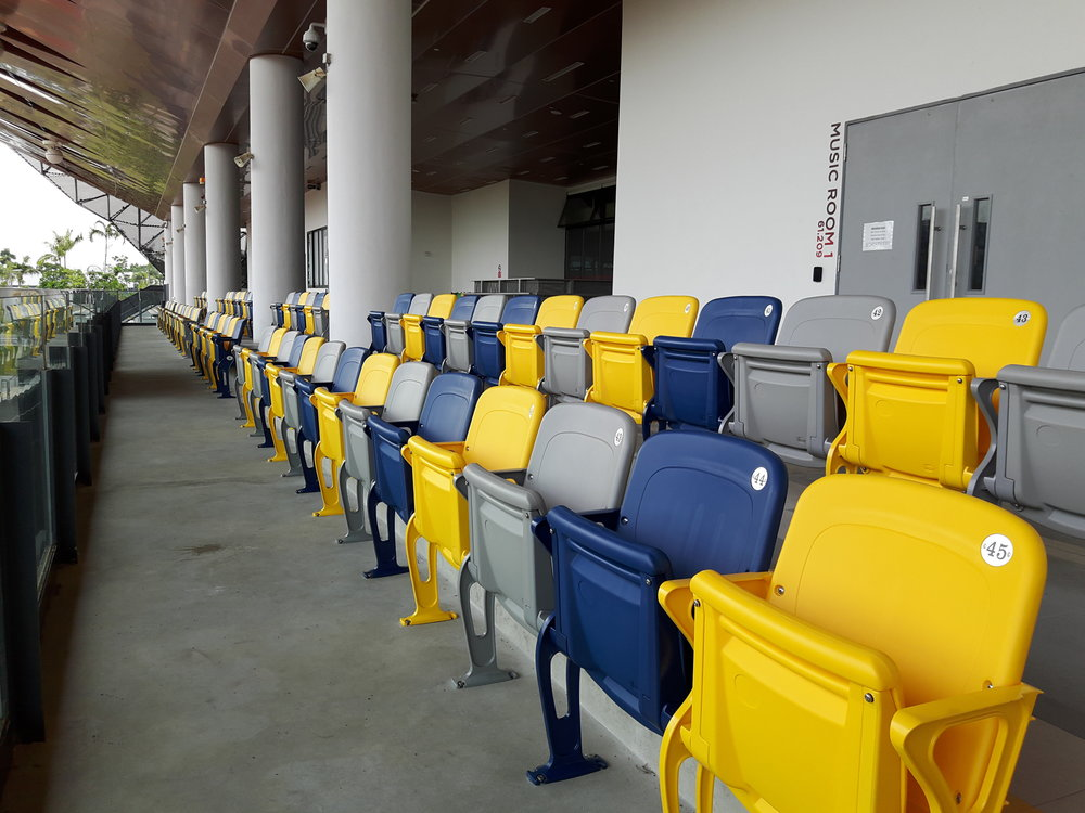 SUTD SPORTS COMPLEX - SINGAPORE  FUSION CHAIRS AND PERMA-CAP