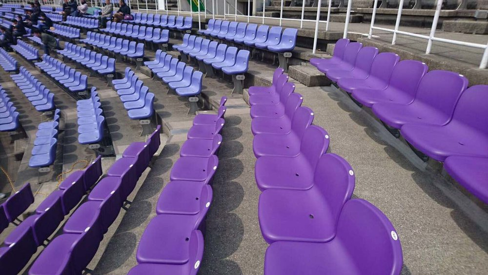WAKASA STADIUM - KYOTO, JAPAN blow molded seats for outdoor use