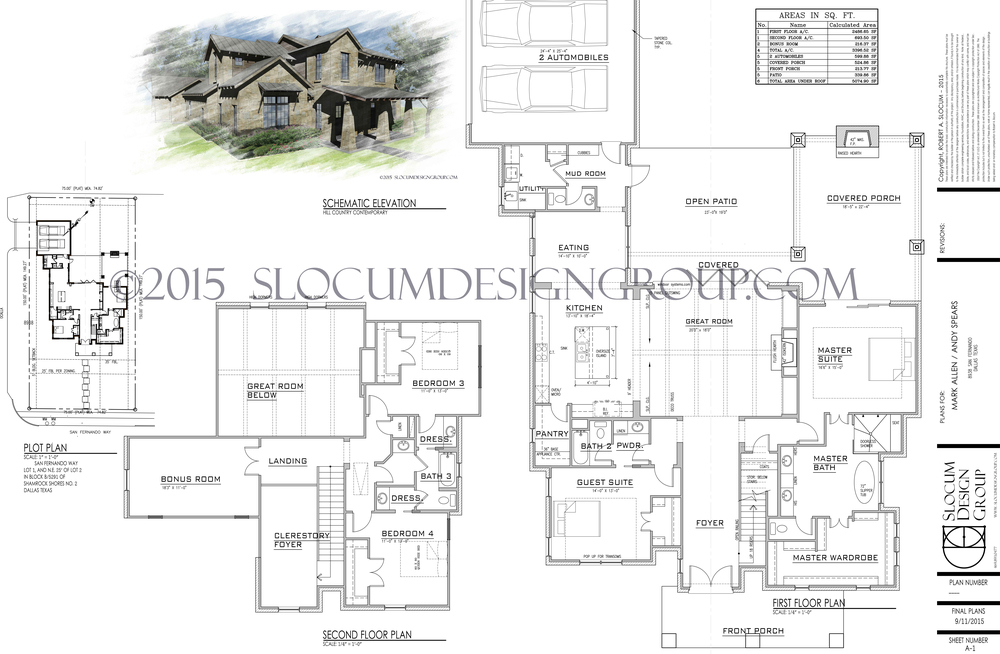 3,400 Sq. Foot Hill Country Contemporary Design for Little Forest Hills in Dallas Texas.
