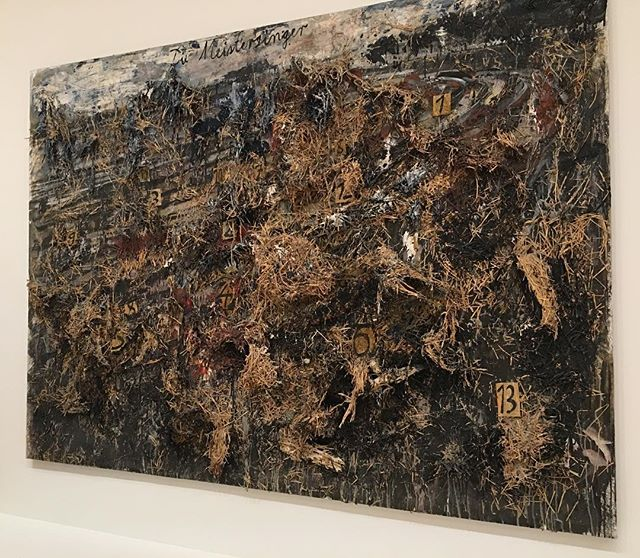 Took my mom to SFMOMA to catch a peak at this thing in person again. #sfmoma #anselmkiefer #diemeistersinger #art
