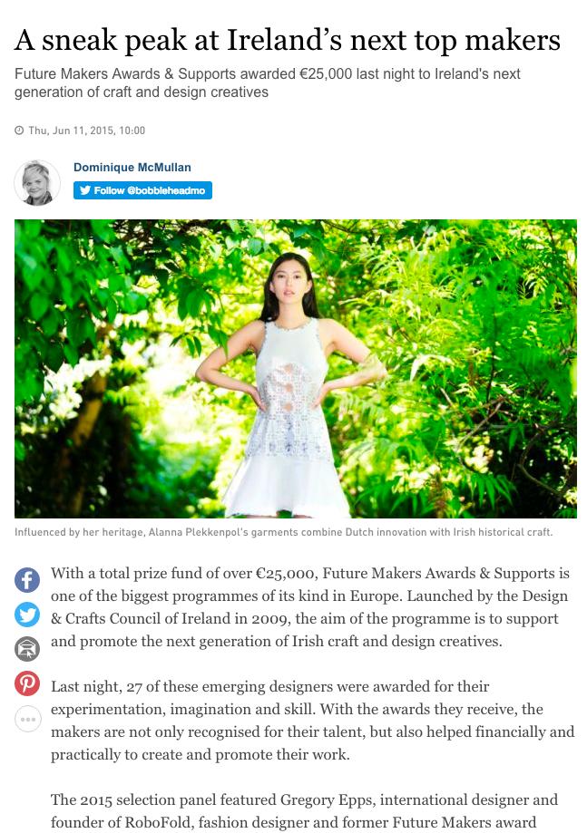 Irishtimes.com - Future Maker's Award 2015 Overall Award Winner Announcement