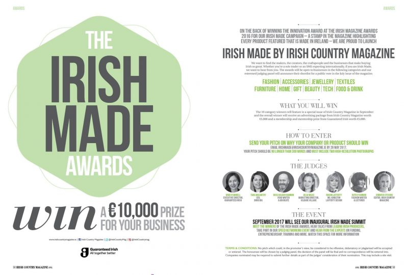 Irish Made Awards by Irish Country Magazine -
