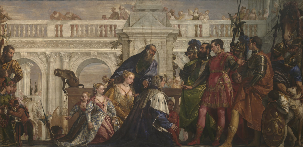 The Family of Darius before Alexander by Paolo Veronese, 1565-1570. The two prominent male figures on the right are Alexander and Hephaestion, although scholars have disagreed as to which is which.