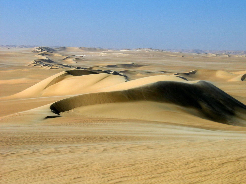 Rolling sand dunes outside of the Siwah Oasis.