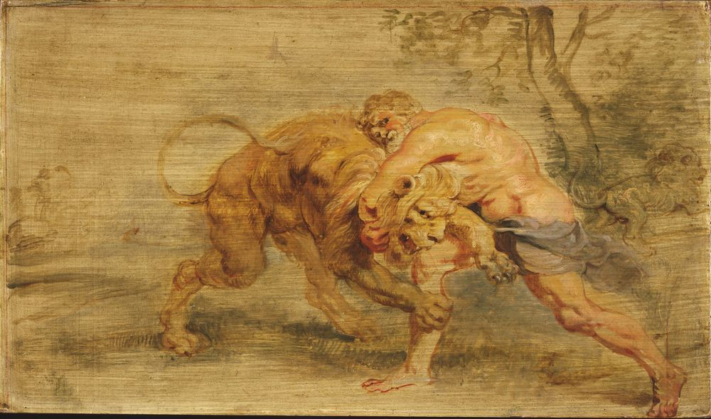 Heracles Strangling the Nemean Lion, Peter Paul Rubens, 1639