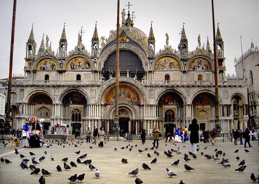 (Above: Saint Mark's Basilica in Venice, Italy)