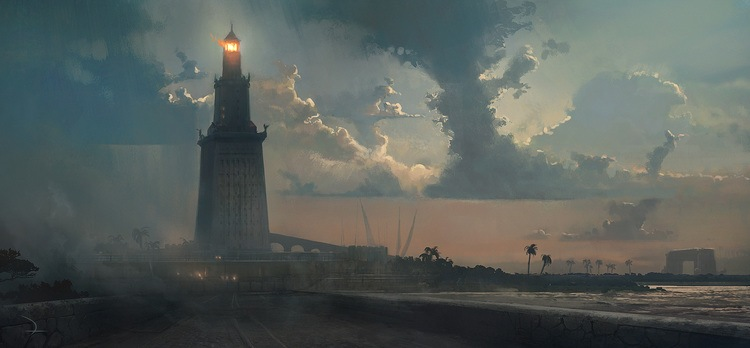 (Above: an illustration of the Lighthouse of Alexandria, one of the 7 Wonders of the Ancient World)