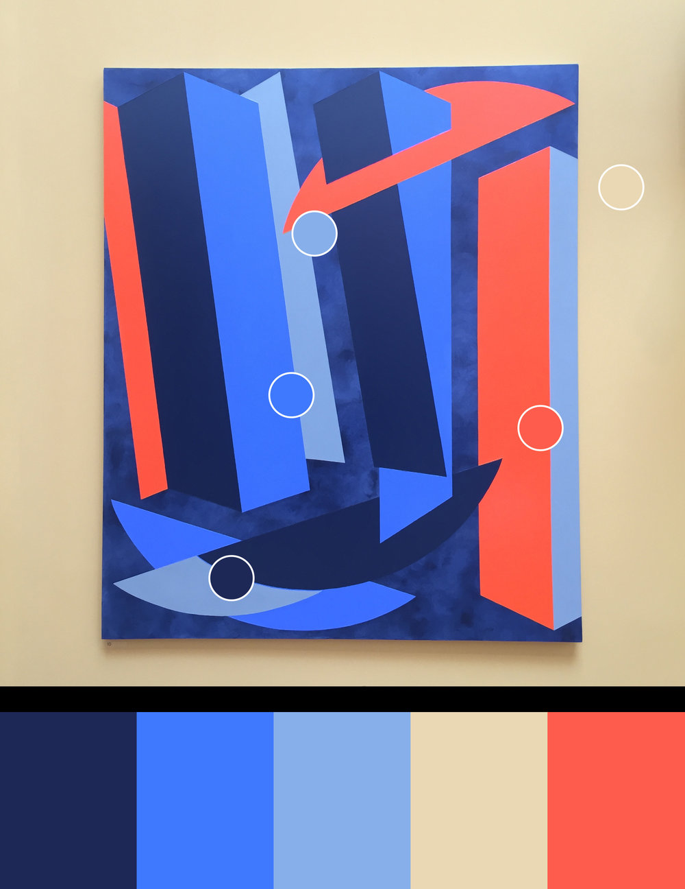 Splice - Painting by Vanessa Jackson RA