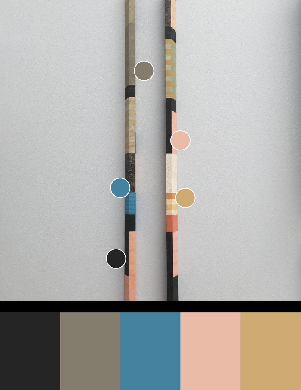 Orange:Blue:Grey  - Sculpture by Paul Furneaux