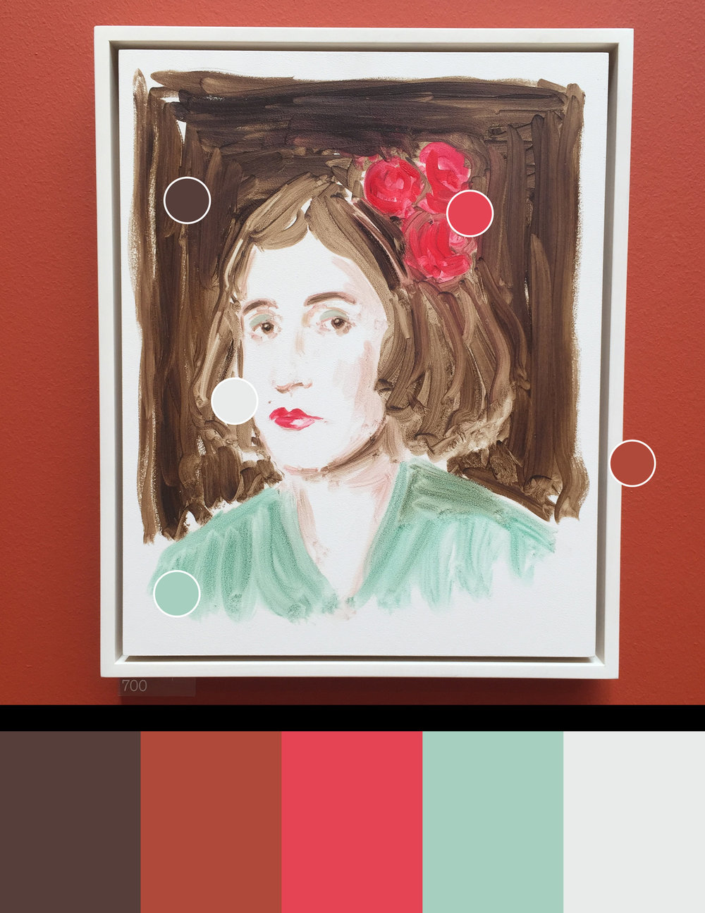 Marcel Duchamp as Rrose Selavy 3  - Painting by Annie Kevans