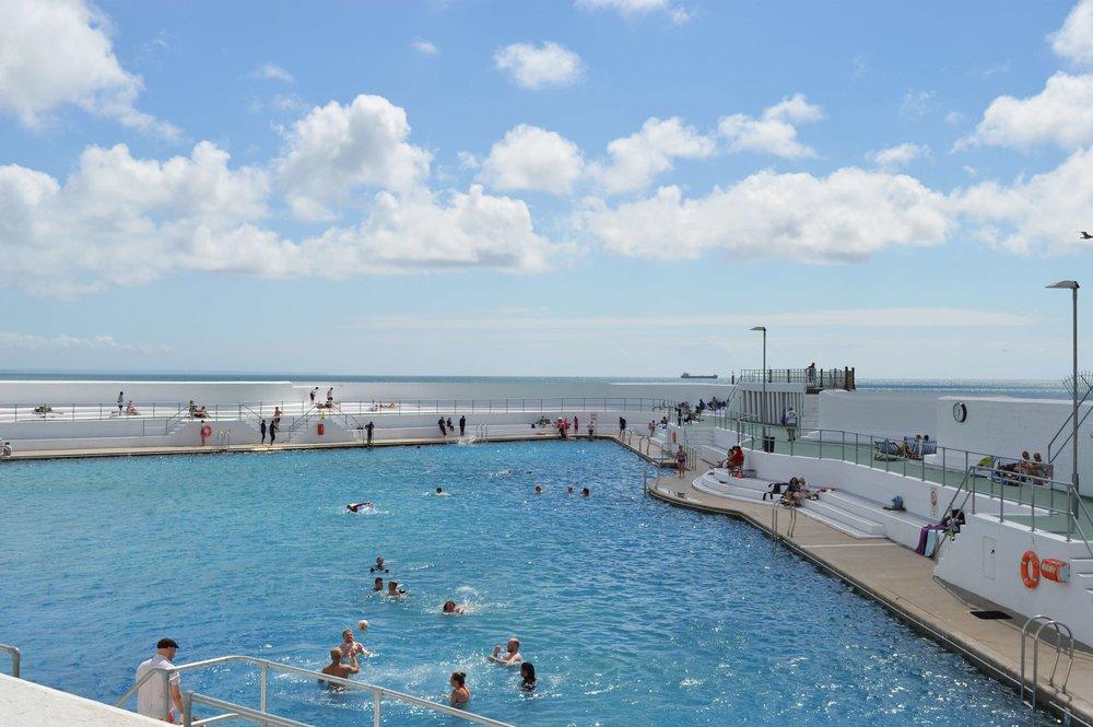 Jubilee Pool / Art Deco Lido on Penzance's Promenade.