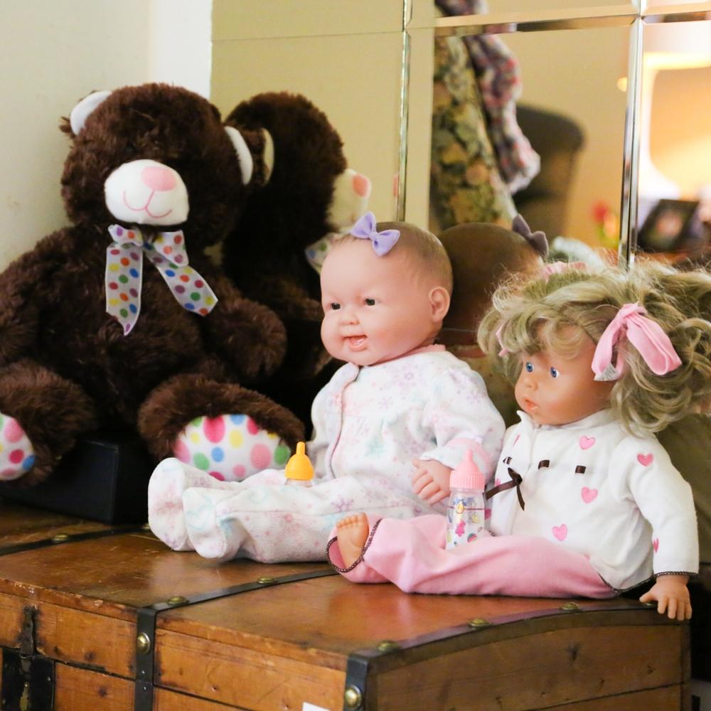 Perryman House - Childhood dolls and teddy bear.