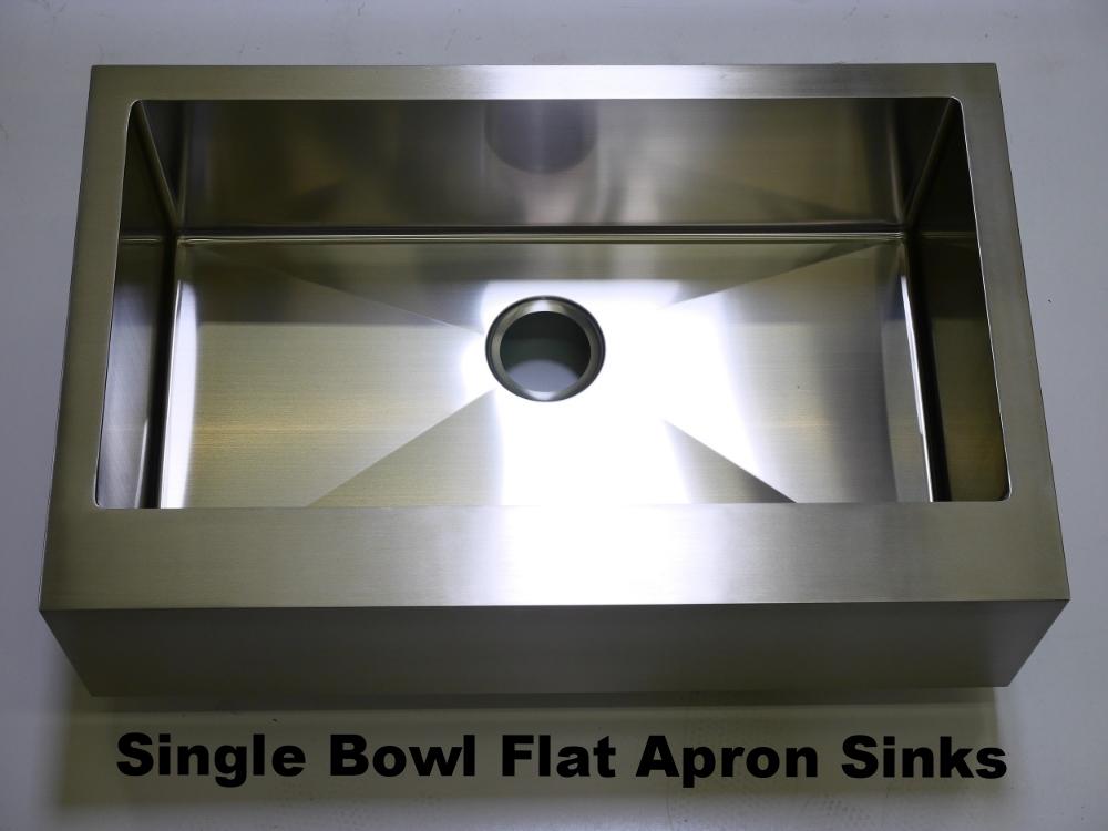 Single Bowl Flat Apron Sinks