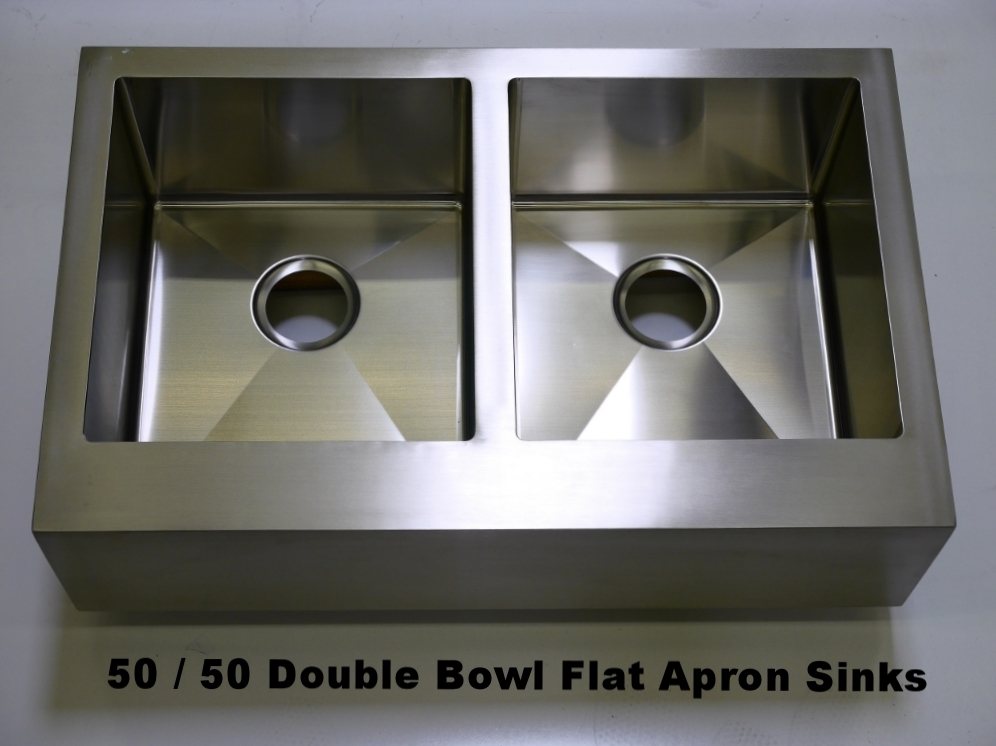 Flat Front Farmhouse Apron Sinks