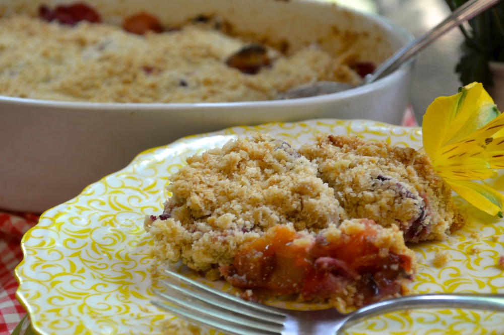 Stone Fruit Crumble copyright at cooking by design, llc 2015 all rights reserved