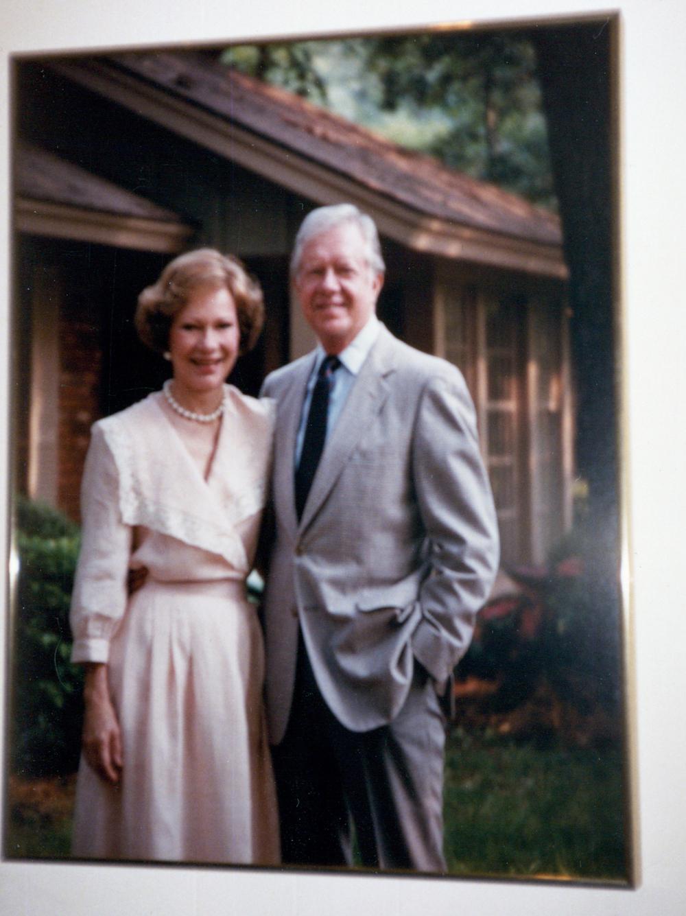 Portrait of President Carter & Rosalyn.
