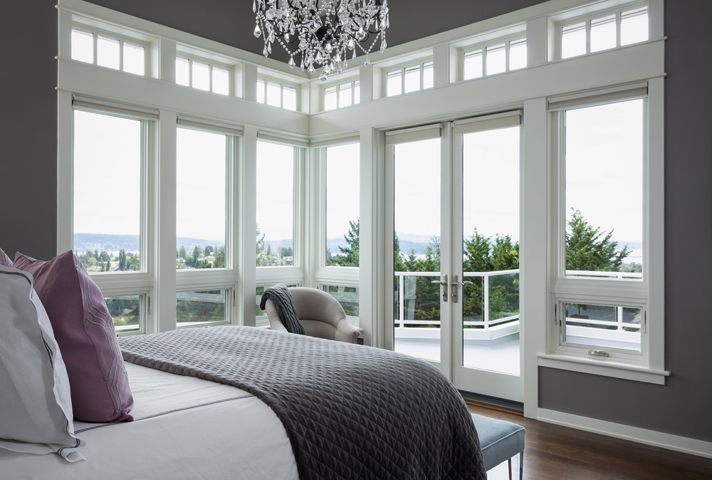 Master bedroom interior design. Seattle, Washington