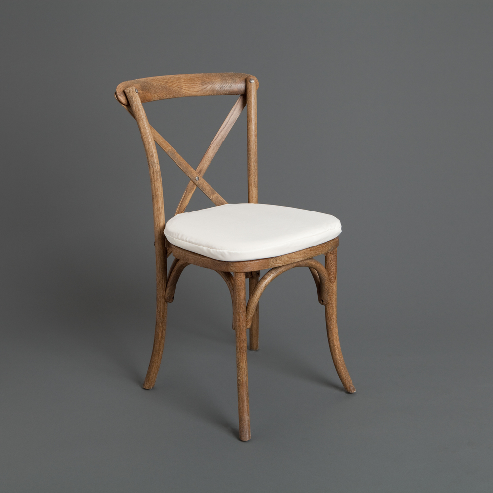 Cross-back Chair with Cushion