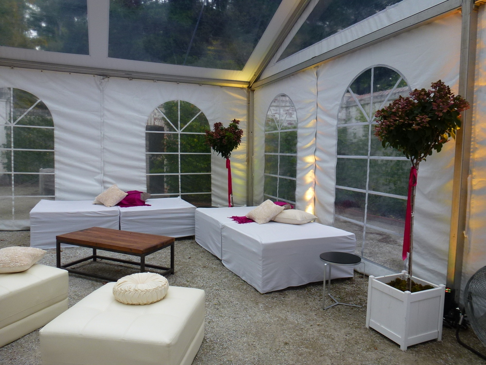 Modern White Lounge Ottomans