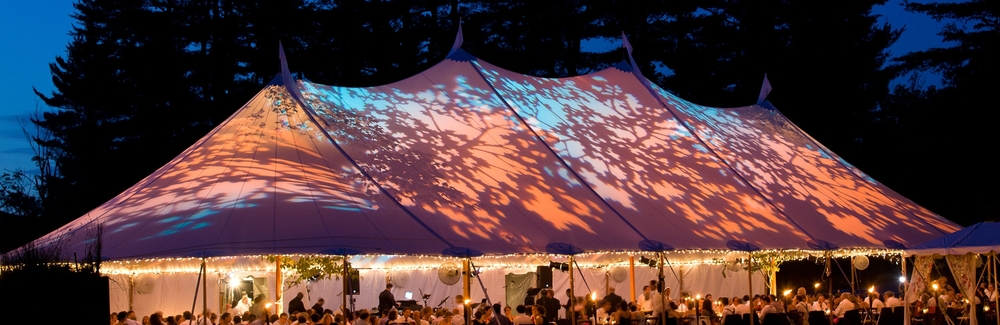 Sailcloth Tent.  Photography by Eric Limon Photography.