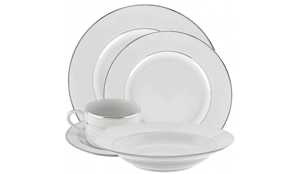 NEW!  Unity Silver China - Elegant and simple, our new silver lined white china is a classic choice for your Berkshire wedding or party.