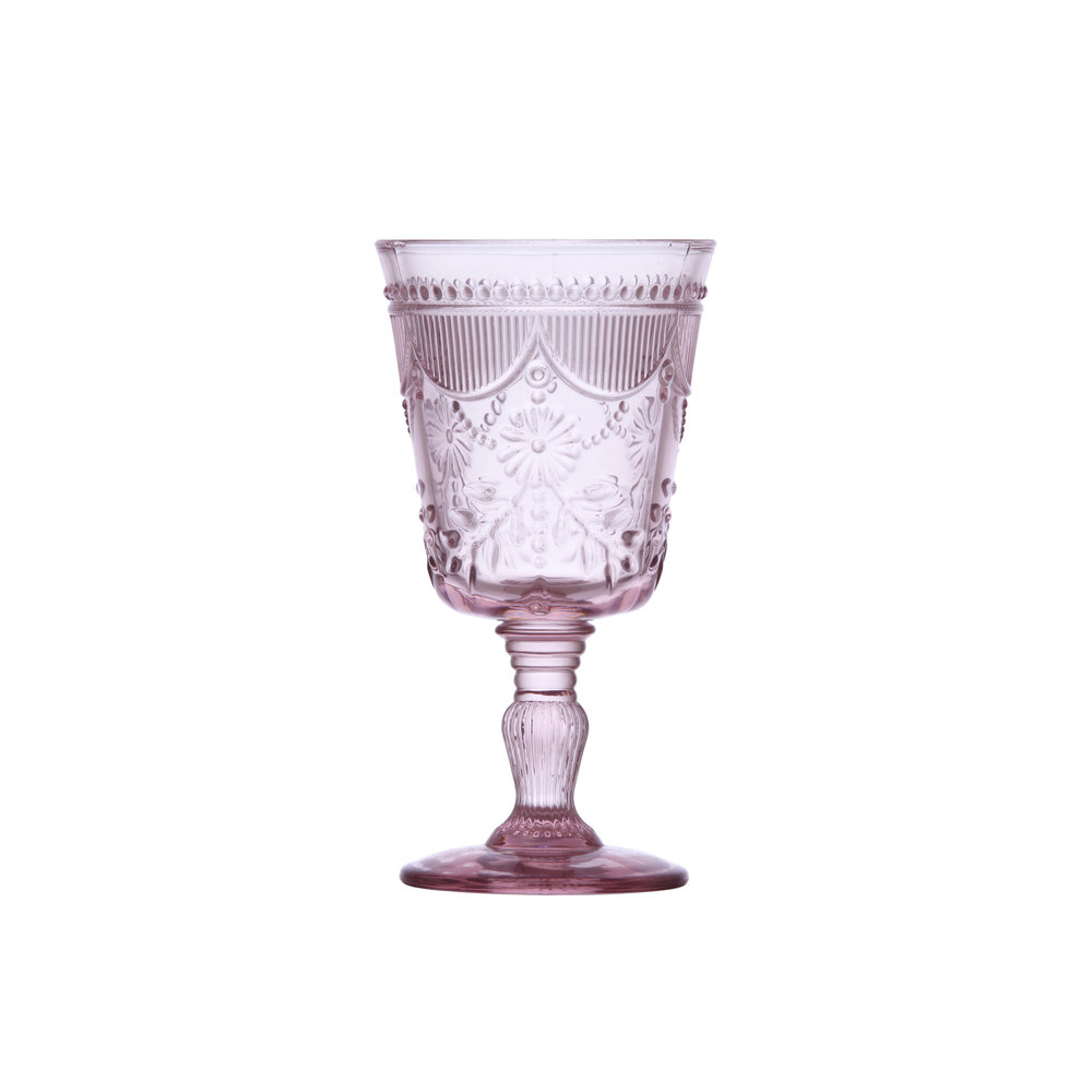 Vintage Blush Goblet